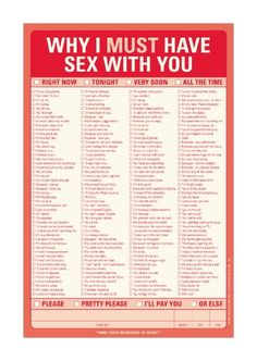 Why I Must Have Sex with You notepad.  This cracks me up!!!!  I think men would get a kick out of getting this gift!   This could work both ways for a couple!!  haha.