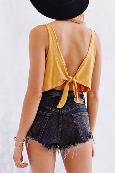Truly Madly Deeply Tie-Back Cropped Tank Top
