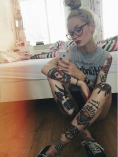 Plaid skirts easy on the eye tattoo color ink-36826