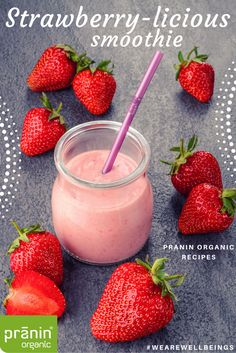 Raw ginger, cinnamon and strawberries. Now that's a fresh combo. #vegan #dairyfree #healthy #eatclean #summerrecipes #organic #praninorganic #summer #pranin #organic #strawberry #cinnamon #ginger #smoothie