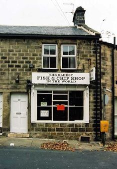 The longest running fish and chip shop still in operation is based in Yeadon near Leeds. The shop trades under the name 'The Oldest Fish & Chip Shop in the World'. It is believed that fish and chips have been served from the premises continually since Leeds England, Yorkshire England, England And Scotland, West Yorkshire, England Uk, Yorkshire Dales, English Fish And Chips, Facts About Fish, Fish And Chip Shop