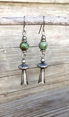 2852a6cc0 Silver Earrings Dangle, Boho Earrings Silver, Squash Blossom Earrings, Squash  Blossom Earrings, Sout