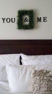 "My ""you & me"" master bedroom decor.  Love Pinterest ideas!"