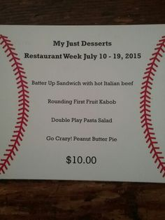 Restaurant week special july 10-19 2015