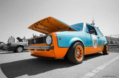 Gulf Racing VW MK1 Rabbit by rondal, via Flickr