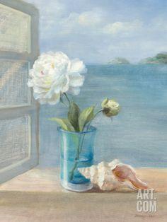 Coastal Floral I Art Print by Danhui Nai at Art.com