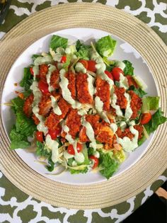Buffalo Chicken Salad with Avocado Ranch Dressing.pinning this for the Avocado Ranch recipe. I love the stuff! Egg Recipes, Salad Recipes, Cooking Recipes, Healthy Recipes, What's Cooking, Diabetic Recipes, Dinner Recipes, Avocado Chicken Salad, Avocado Salad