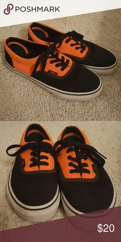 Vans Black and orange. Some staining on the white part. Kids 3 but fits like women's 5.5 Vans Shoes Sneakers