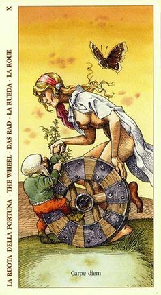 Belle Constantinne - The Wheel of Fortune - Albrecht Dürer Tarot