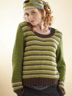 Slip Stitch Sweater  Free Knitting Pattern...