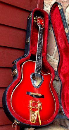 Gretsch Crimson Flyer Guitar and Red Case