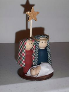 Nativity Mini - this is from Etsy (inspiration only) and I believe made of wood? We can do something similar in Polymer clay