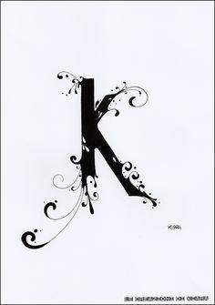 Le Creazioni di Kiara: LETTERING ... the K