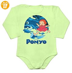 Cheerful Portrait Of Ponyo Baby Long Sleeve Romper Bodysuit Large - Baby bodys baby einteiler baby stampler (*Partner-Link)