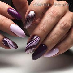 Работа мастера @shovshka.nail г. Москва Ongles Violets, Ongles Vernis,  Ongles