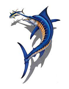 #3304 Marlin W/Tuna Shadow