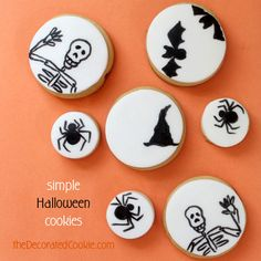 simple Halloween decorated cookies