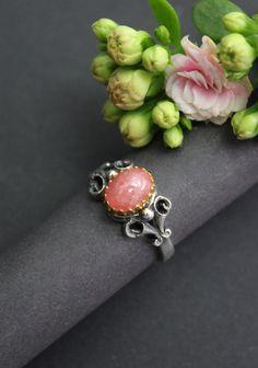 Dirndlschmuck: Ring Stefanie rosa - Schmuck Steiner Rhinestones, Beads, Pink Jewelry, Women Accessories, Gemstones, Valentines Day
