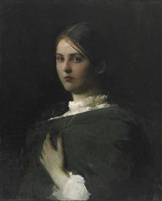 """Portrait of the Artist's Eldest Daughter,"" Abbott Handerson Thayer, 1893-94, oil on canvas, 27 1/16 x 22 1/16"", Freer Gallery of Art."
