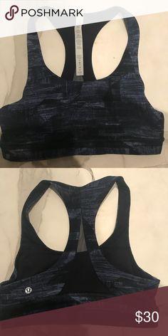 29dab3f184a0db Lululemon blue print sports bra Worn once. Great condition lululemon  athletica Intimates   Sleepwear Bras