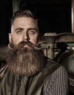 45 Immensely Trending Hipster Hairstyles For Men in 2020 - The most unique Hipster Hairstyled by men – Moustache + Short Hair & Long Beard - Great Beards, Awesome Beards, Moustaches, Short Hair Long Beard, Long Hair, Hipster Hairstyles Men, Men's Hairstyles, Haircuts, Mustache Styles