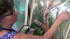 How to paint trees in pastel