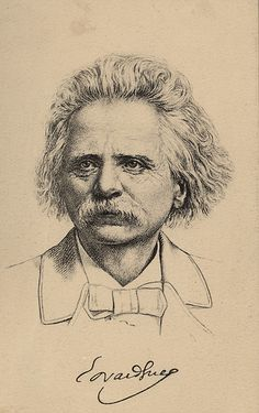 [Edvard Grieg drawn portrait]