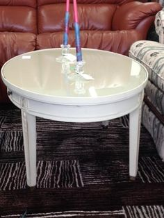 Oval glass top coffee table (Country Grey) $60 #owensound #homedecor #furniture #chic #bargains #consignment