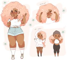 peachy ref by cueen on DeviantArt Black Love Art, Black Girl Art, Art Girl, Black Girl Cartoon, Black Anime Characters, Black Art Pictures, Dibujos Cute, Mode Blog, Wow Art