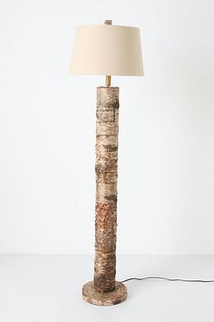 """""So excited! driving in from camp and BING! idea for a lamp - we'll use one of the birch trees from the camp road and BAM! insta lamp!"""""