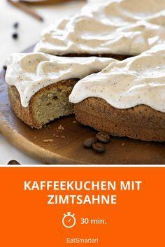 Kaffeekuchen mit Zimtsahne   http://eatsmarter.de/rezepte/kaffeekuchen-mit-zimtsahne