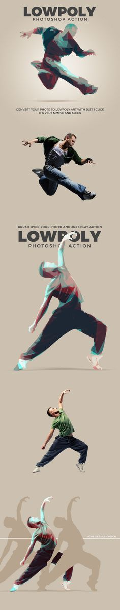 Extraordinary  Low Poly Photoshop Action  • Only available here ➝ http://graphicriver.net/item/low-poly-action/16708935?ref=pxcr