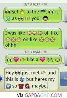 Hilarious Emoji Text Message About Song Lyrics