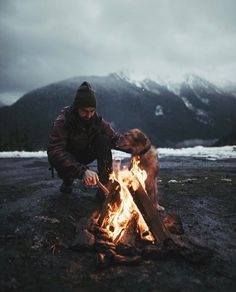 It's time for early spring snow flurries and a warm camp fire  photo: @johnwingfield  www.rngrstation.com  RNGR #RNGR #rngrstation #apparel  #wildernessoutfitters