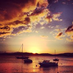 A beautiful Caribbean sunset! Check out Farebuzz.com for the best rates and you'll be looking at a sunset like this before you know it!