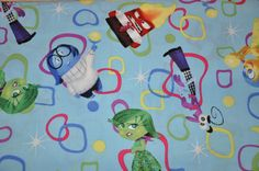 One Yard of Disney Blue Inside Out 100% by CarlsonQuiltFabrics