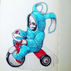 Bunny Reaper 2 by Norio Fujikawa, via Behance. This guy is way way good...
