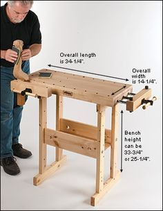 Sjöbergs Compact Workbench - Woodworking