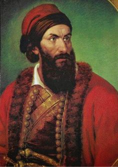 Georgios Dimitrios Flessas was his birth name. His monastic name was Gregory Flessas (Grigórios Fléssas) or Papaflessas, while the pseudonym he used later in his life was Gregory Dikaios. Portrait of Poliani, Messinia, Ottoman Empire Greek Independence, Greek Warrior, Greek Culture, In Ancient Times, Ottoman Empire, Revolution, Greece, History, Portrait