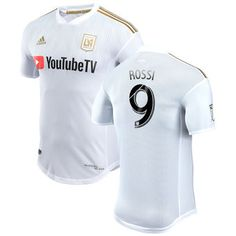ac0ad88fc Diego Rossi LAFC adidas 2018 Secondary Authentic Player Jersey – White  Logan