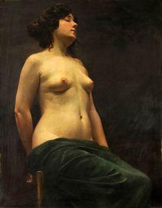 Vojtech Hynais - Female Nude (1879)
