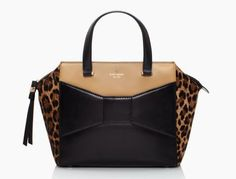 kate spade beau bag leopard print