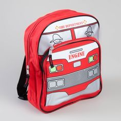Fire Truck Backpack.