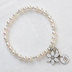 Childrens personalized bracelet flower girl bracelet flower girl