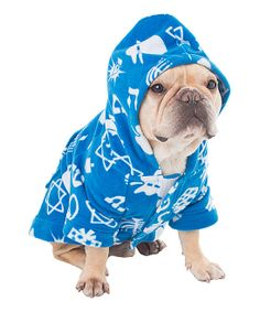 Blue Hanukkah Hooded Dog Outfit | something special every day