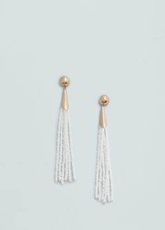 Beaded pendant earrings | MANGO