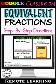EQUIVALENT FRACTIONS can be really fun - when you practice with PIZZA! Insert these slides into your GOOGLE CLASSROOM, make a copy for each student and assign! There is no prep for you as instructions are already listed on each interactive slide.  Perfect for distance learning! Gifted Students, Equivalent Fractions, Interactive Whiteboard, Student Gifts, Google Classroom, Student Learning, A Table, Vocabulary, Distance