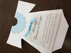 A sweet D.I.Y. invitation for baby's Baptism! #Sacraments #Catholic #Baptism