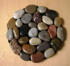 River rock trivet This was a fun and easy craft for adults, older children and teens would love as well!