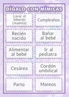 Resultado de imagen para juegos para baby shower en español divertidos